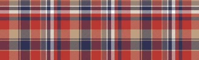 Seamless plaid tartan scotland texture with squares - Vector