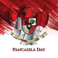 Pancasila Day Garuda Concept vector