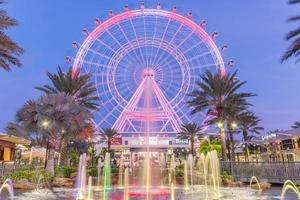 Orlando, Florida, USA 2016--The Orlando Eye is a 400 feet tall ferris wheel in the heart of Orlando and the largest observation wheel on the east coast
