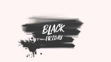 animazione intro testo venerdì nero su sfondo nero moda e pennello video