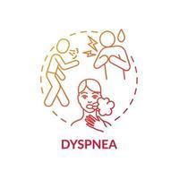 Dyspnea concept icon vector