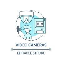 icono de concepto de cámaras de video vector
