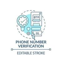 Phone number verification concept icon vector