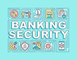Banking security word concepts banner vector