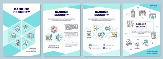 Banking security brochure template vector