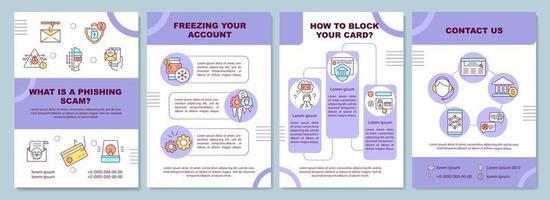 Biometric payments brochure template vector