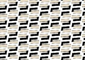 Hand drawn, black and tan shapes seamless pattern vector