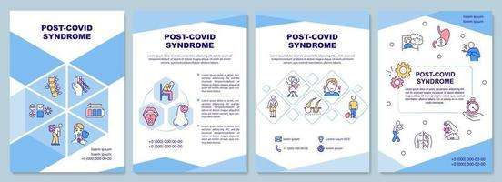 Plantilla de folleto de síndrome post covid vector