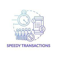 Speedy transactions concept icon vector