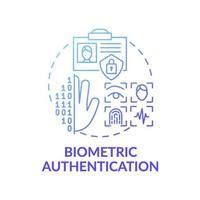 icono de concepto de autenticación biométrica vector