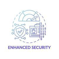icono de concepto de seguridad mejorada vector