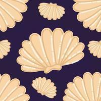 vector de patrón de conchas