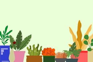 Decorative Plants Background Vector