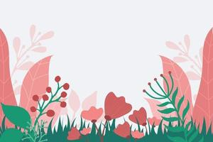 Pinky Floral Background vector