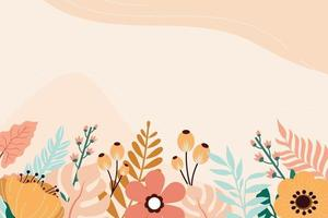 Beauty Floral Background Vector