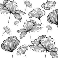Line Art Pattern Vector Illustration