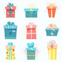 Big set with gifts for the holiday vector