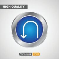 return icon for your web site design, logo, app, UI. Vector graphics illustration and editable stroke. EPS 10.