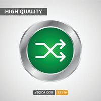 shuffle icon for your web site design, logo, app, UI. Vector graphics illustration and editable stroke. EPS 10.