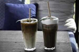 bebidas de café helado foto