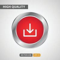 download icon for your web site design, logo, app, UI. Vector graphics illustration and editable stroke. EPS 10.