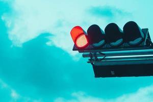 semáforo en rojo foto