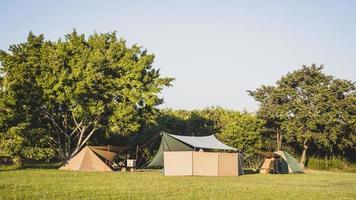 Tourist tent camping photo