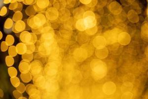 luces doradas borrosas foto