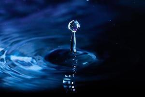 primer plano de salpicaduras de agua foto