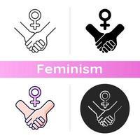 Girl power icon vector