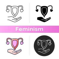Sexual and reproductive rights icon vector