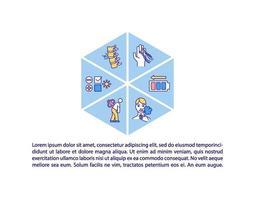 Post icono del concepto de síndrome covid con texto vector
