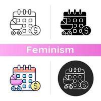 icono de licencia de maternidad pagada vector
