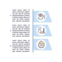 Causes of digital eyes strain concept icon with text vector