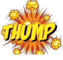 thump redacción comic discurso burbuja en ráfaga vector