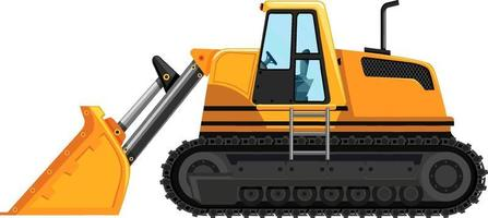 Yellow front loader isolated on white background vector