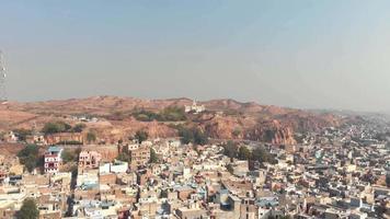 vista da paisagem de jodhpur, também conhecida como a cidade azul, cidade do sol, no estado indiano de rajasthan