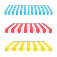 Awning element set vector