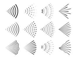 Spray design icon set vector