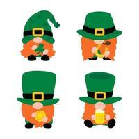 St patricks day gnomes set vector