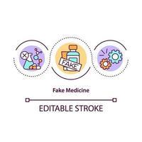 Fake medicine concept icon vector