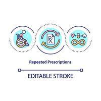 icono de concepto de prescripciones repetidas vector