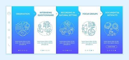 entrevistas y cuestionarios plantilla de vector de incorporación