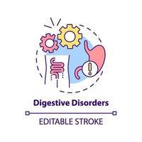 icono de concepto de trastornos digestivos vector