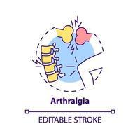 icono del concepto de artralgia vector