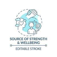 Fuente de fuerza y bienestar icono concepto turquesa vector