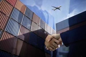concepto de exportación de carga foto