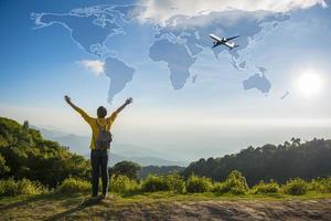 Freedom traveler concept photo