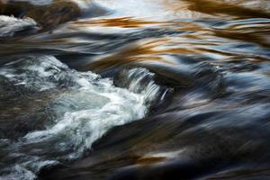 Long-exposure of a river in the evening