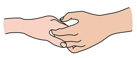 Hands. Gesture is tenderness, love and passion. vector